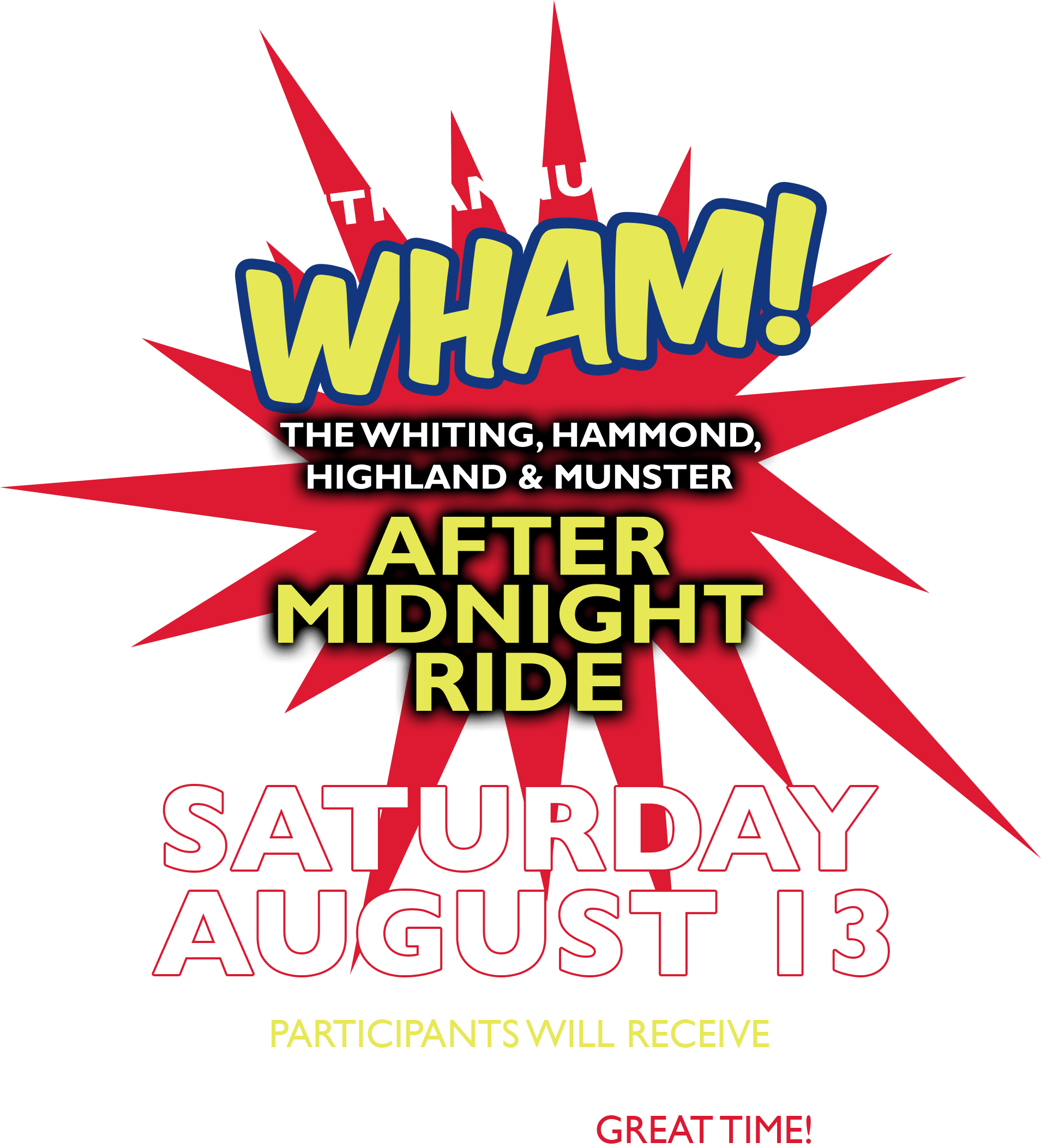 WHAM! The Whiting, Hammond, Highland & Munster After Midnight Ride